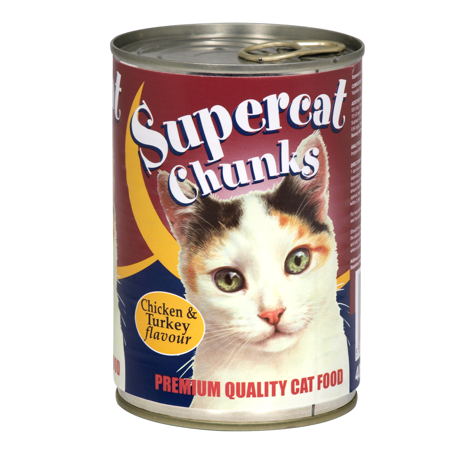SUPERCAT CHUNKS CHICKEN & TURKEY 400GM X12