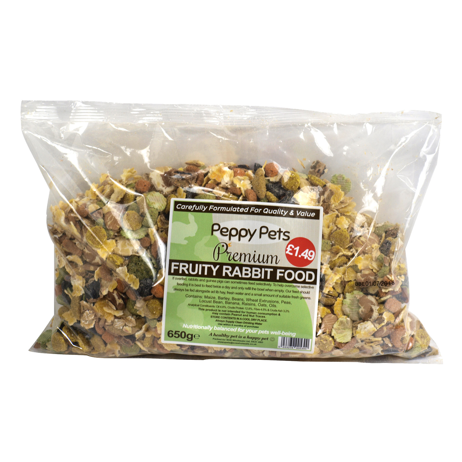 PEPPY PETS FRUITY RABBIT PM£1.49 650GM