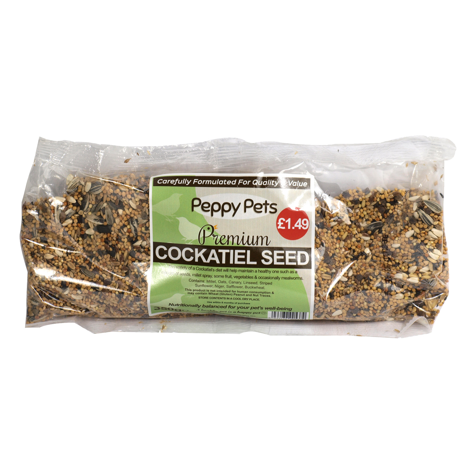 PEPPY PETS COCKATIEL SEED PM£1.49 350GM
