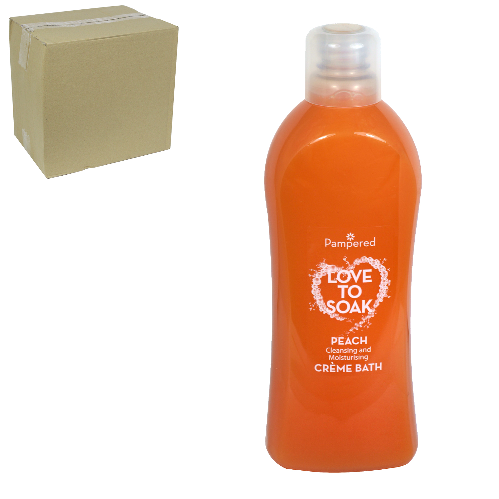 PAMPERED CREME BATH 1L PEACH X9