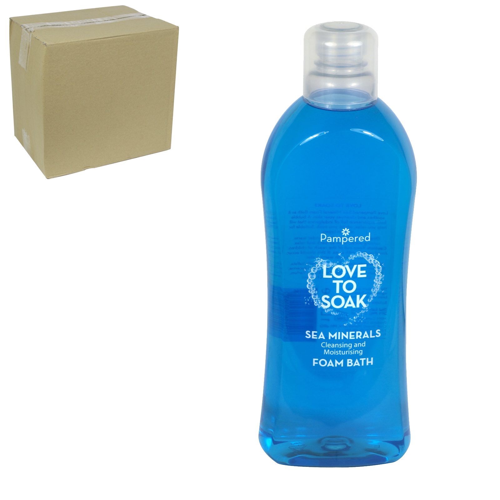 PAMPERED FOAM BATH 1L SEA MINERAL BLUE X9