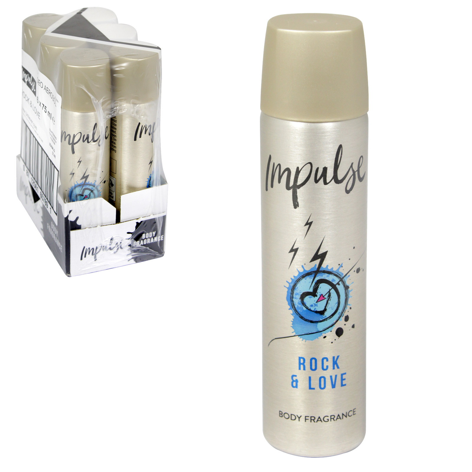IMPULSE 75ML BODY SPRAY ROCK+LOVE