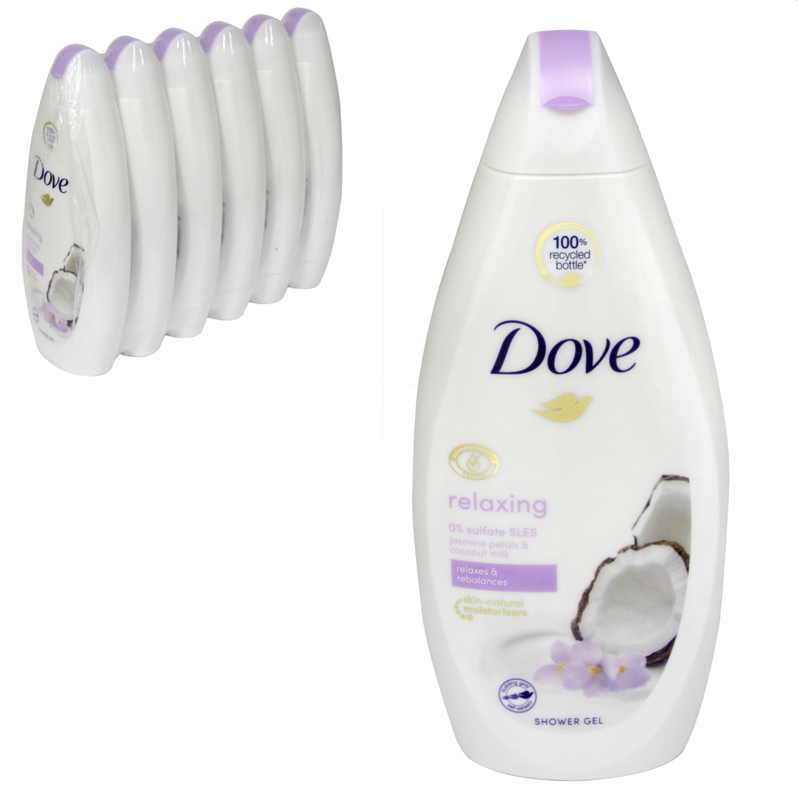 Dove Body Wash 500ml Purely Pampering Coconut Milk With Jasmine Petals X 6 Concord Cash And Carry