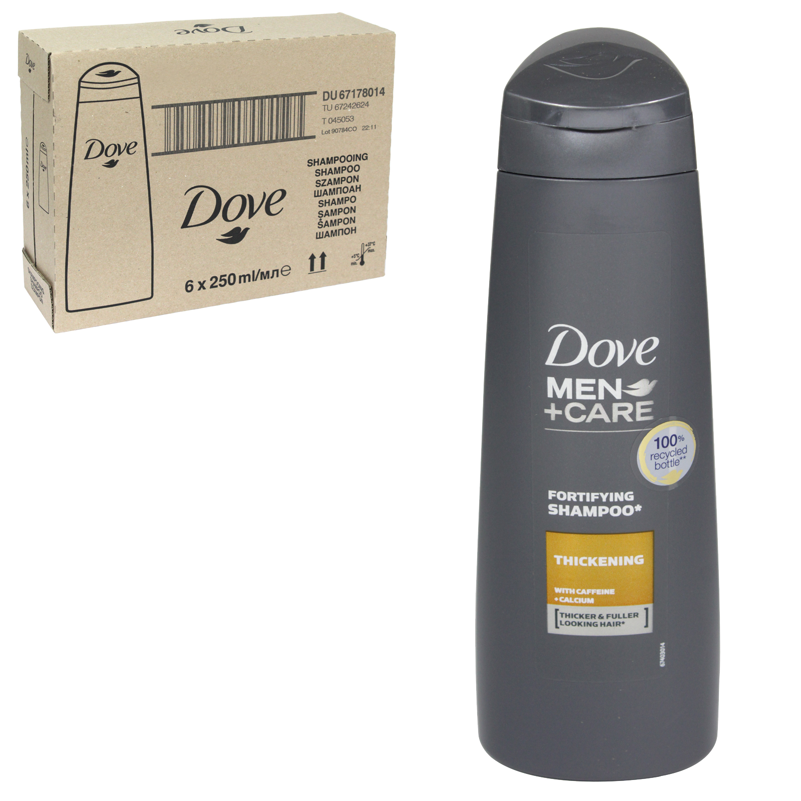 DOVE MEN+CARE SHAMPOO 250ML THICKENING FOR MEN X6