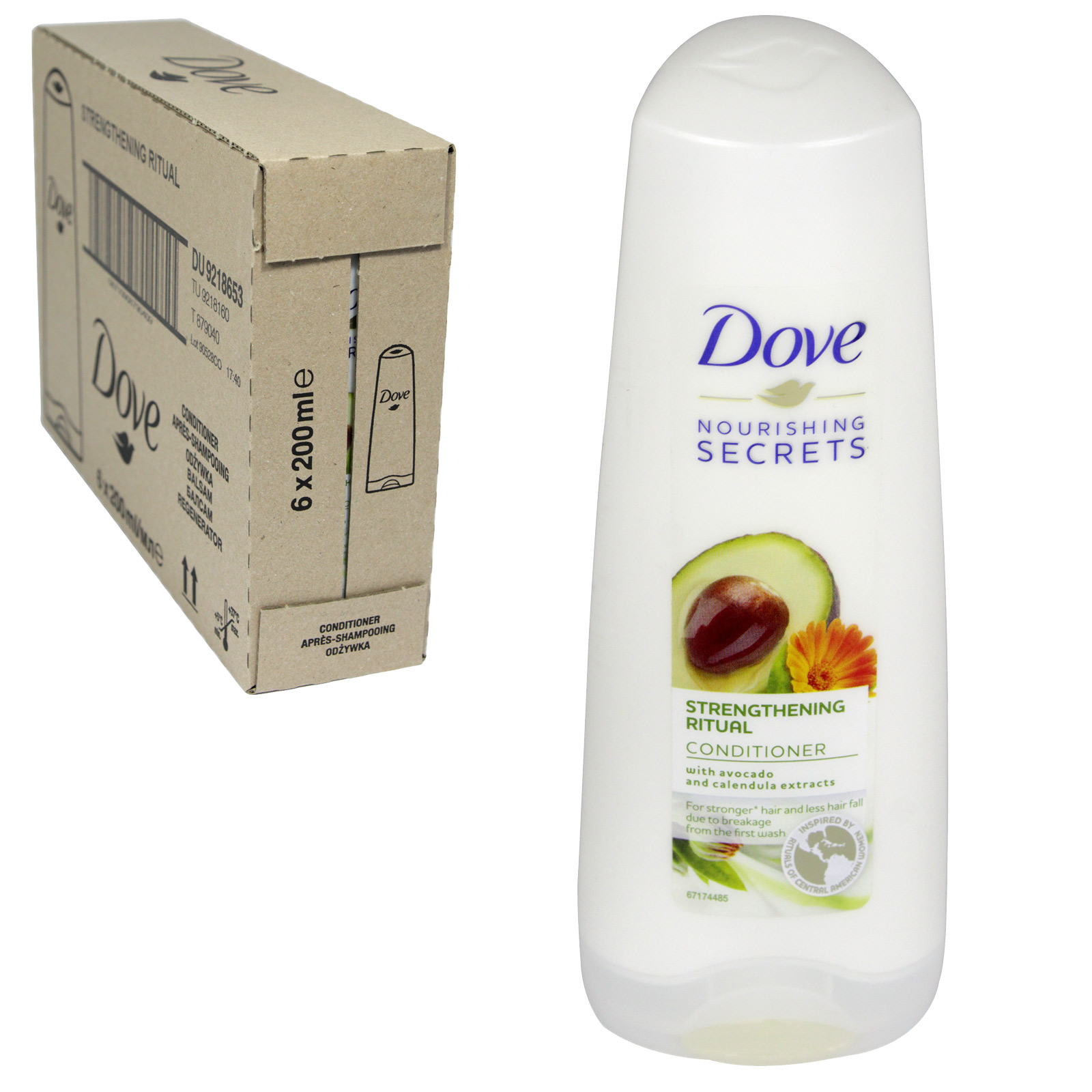 DOVE CONDITIONER 200ML STENGTHENING RITUAL X6
