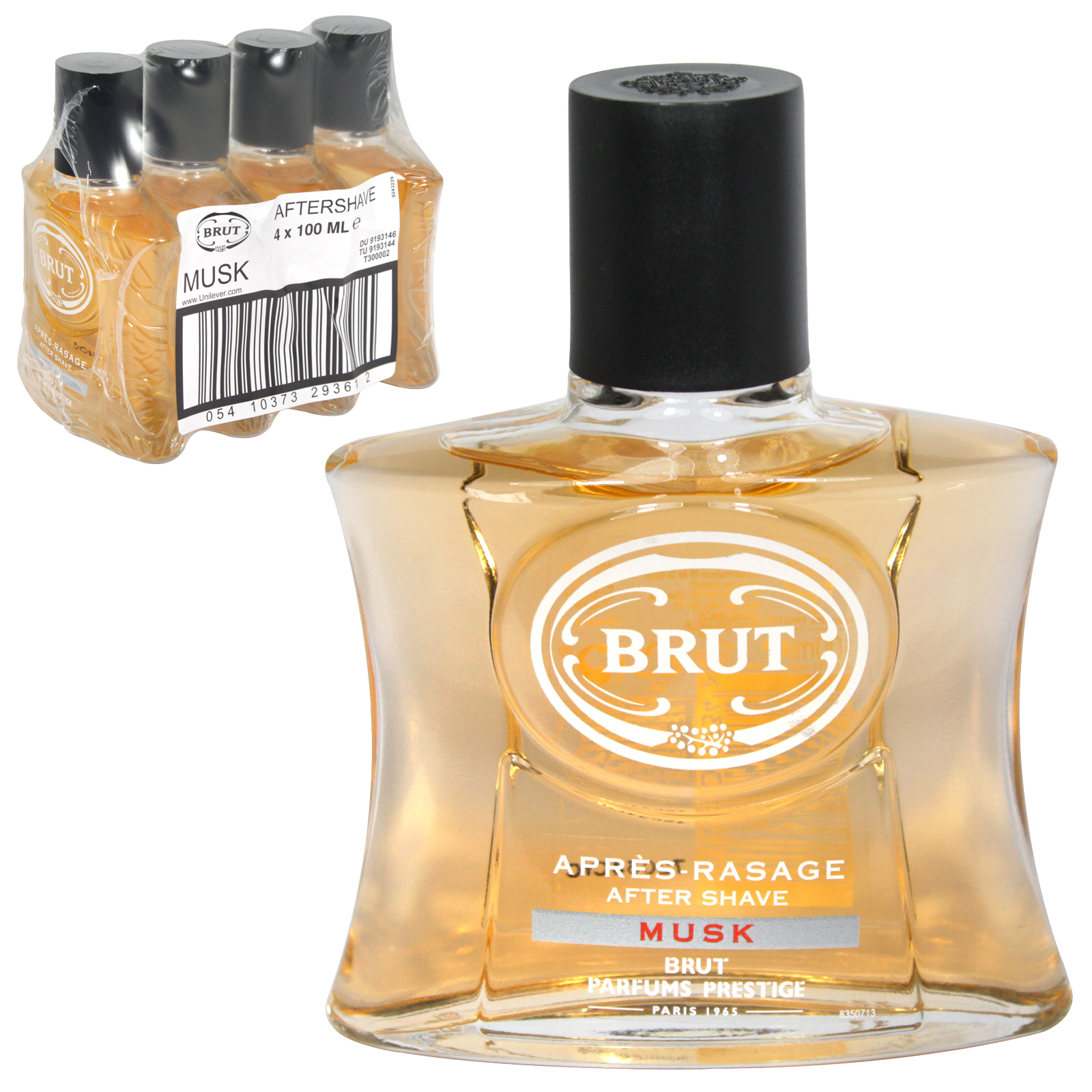 BRUT AFTERSHAVE 100ML UNBOXED MUSK X4