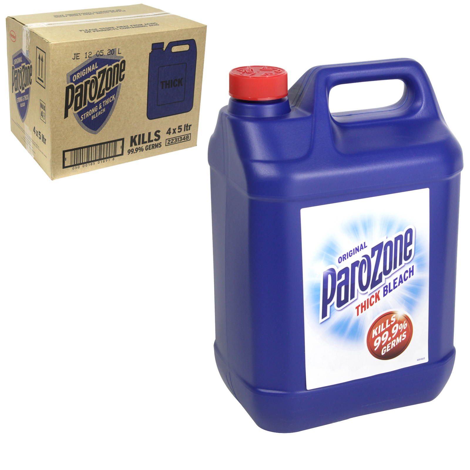 PAROZONE THICK BLEACH 5L ORIGINAL X4