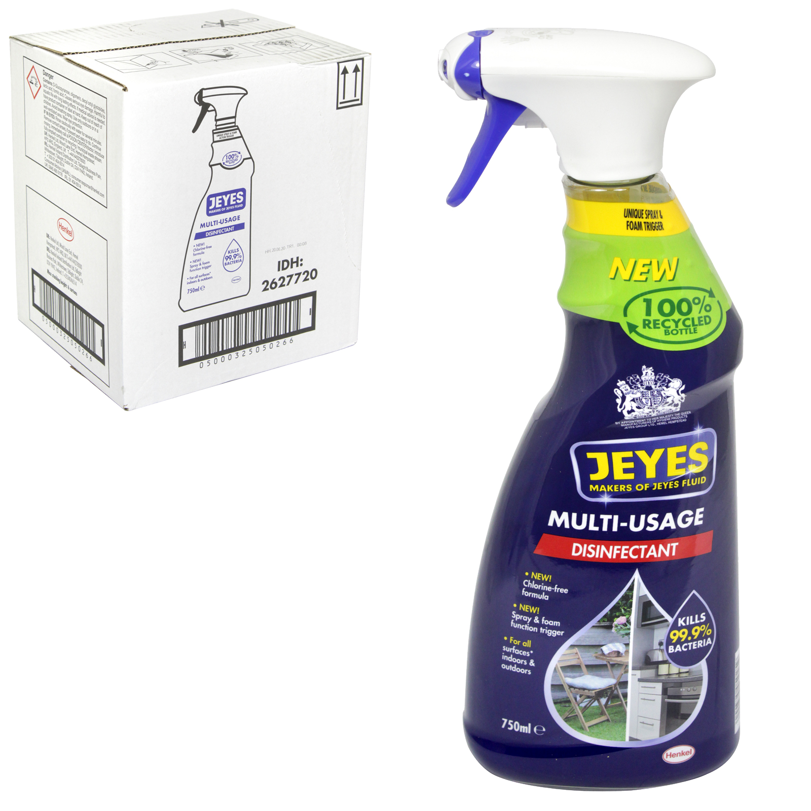 JEYES FLUID 750ML MULTI USE DISINFECTANCT SPRAY READY TO USE X6
