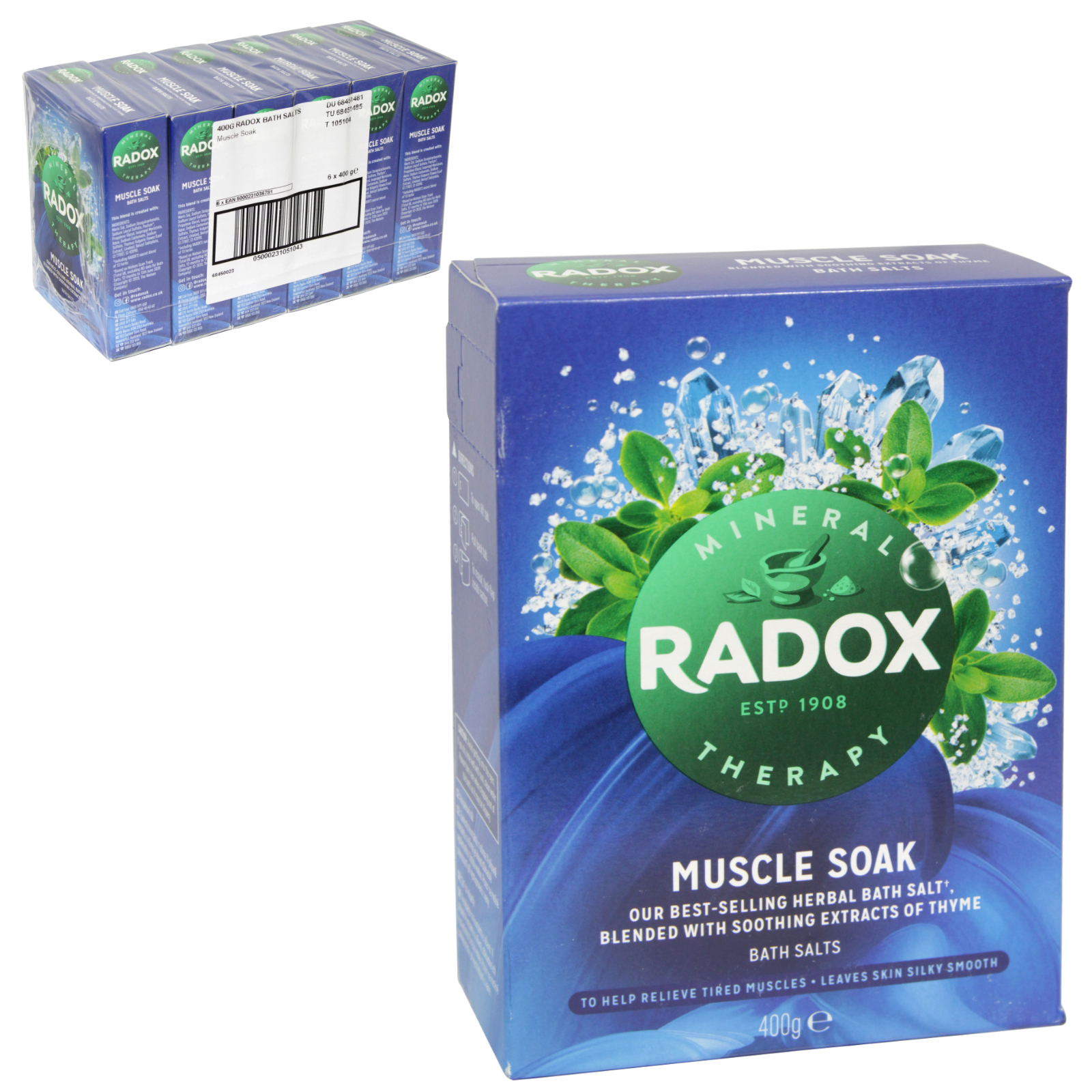 400g Radox Bath Therapy Muscle Soak Herbal Bath Salts
