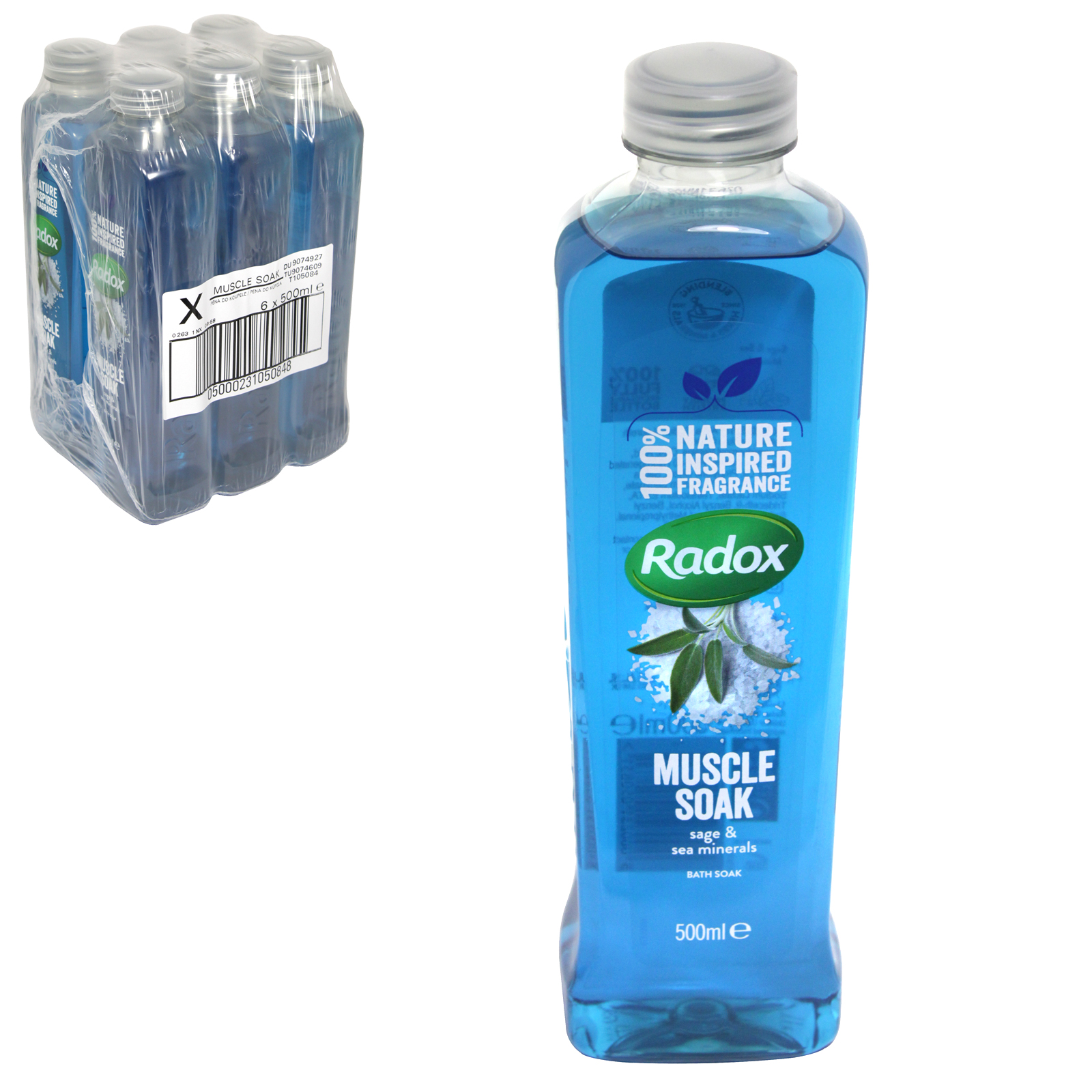 RADOX HERBAL BATH 500ML MUSCLE SOAK  X6