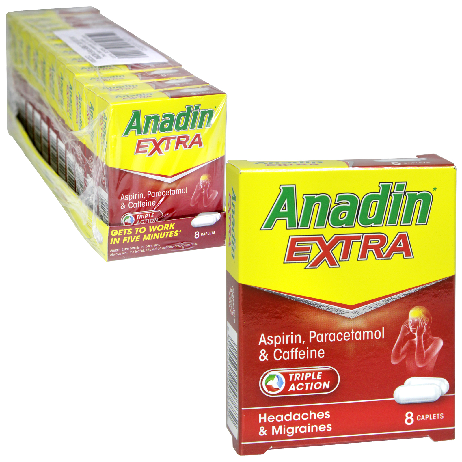 ANADIN EXTRA CAPLETS 8X545MG X12 (NON RETURNABLE)