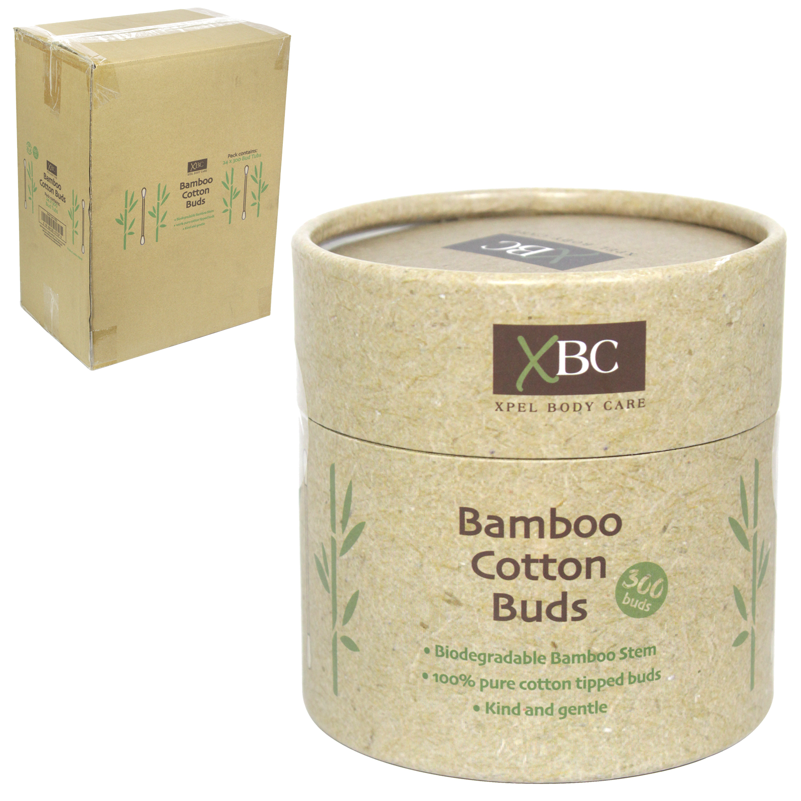 XBC ECO FRIENDLY BAMBOO COTTON BUDS 300'S X24