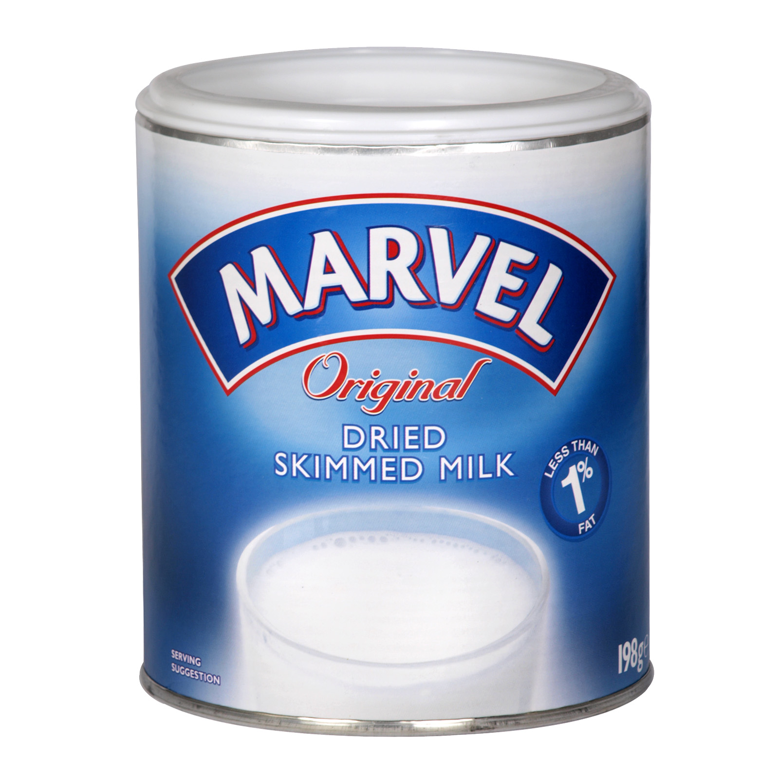 MARVEL SKIMMED MILK POWDER 198GM  X12