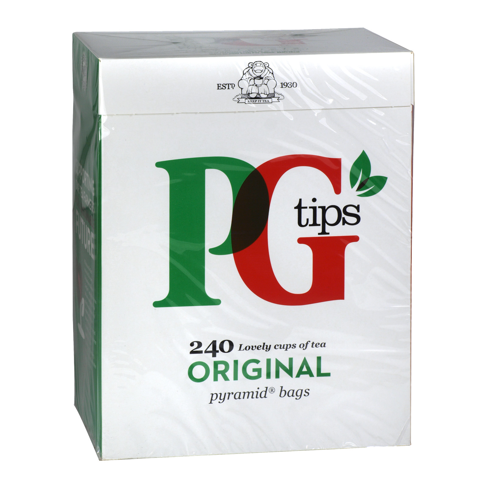 PG TIPS PYRAMID TEABAGS 240'S X4