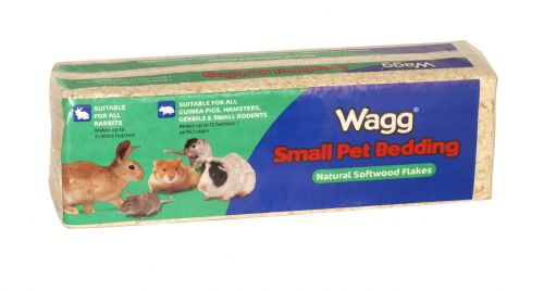 WAGG WOODSHAVINGS 1KG SMALL PETS X6