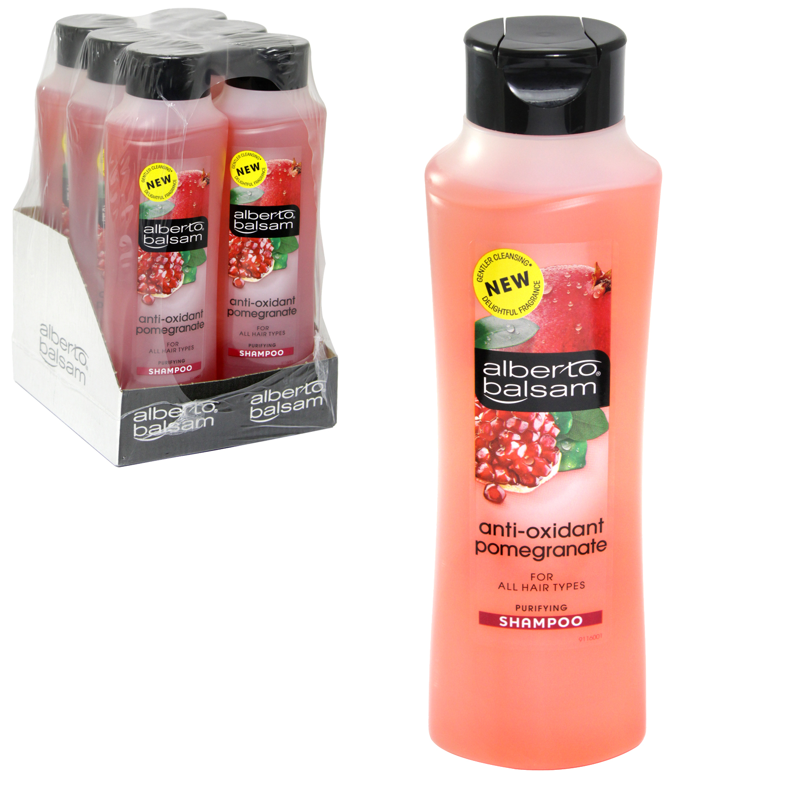 ALBERTO BALSAM SHAMPOO 350ML ANTI-OXIDANT POMEGRANATE X6