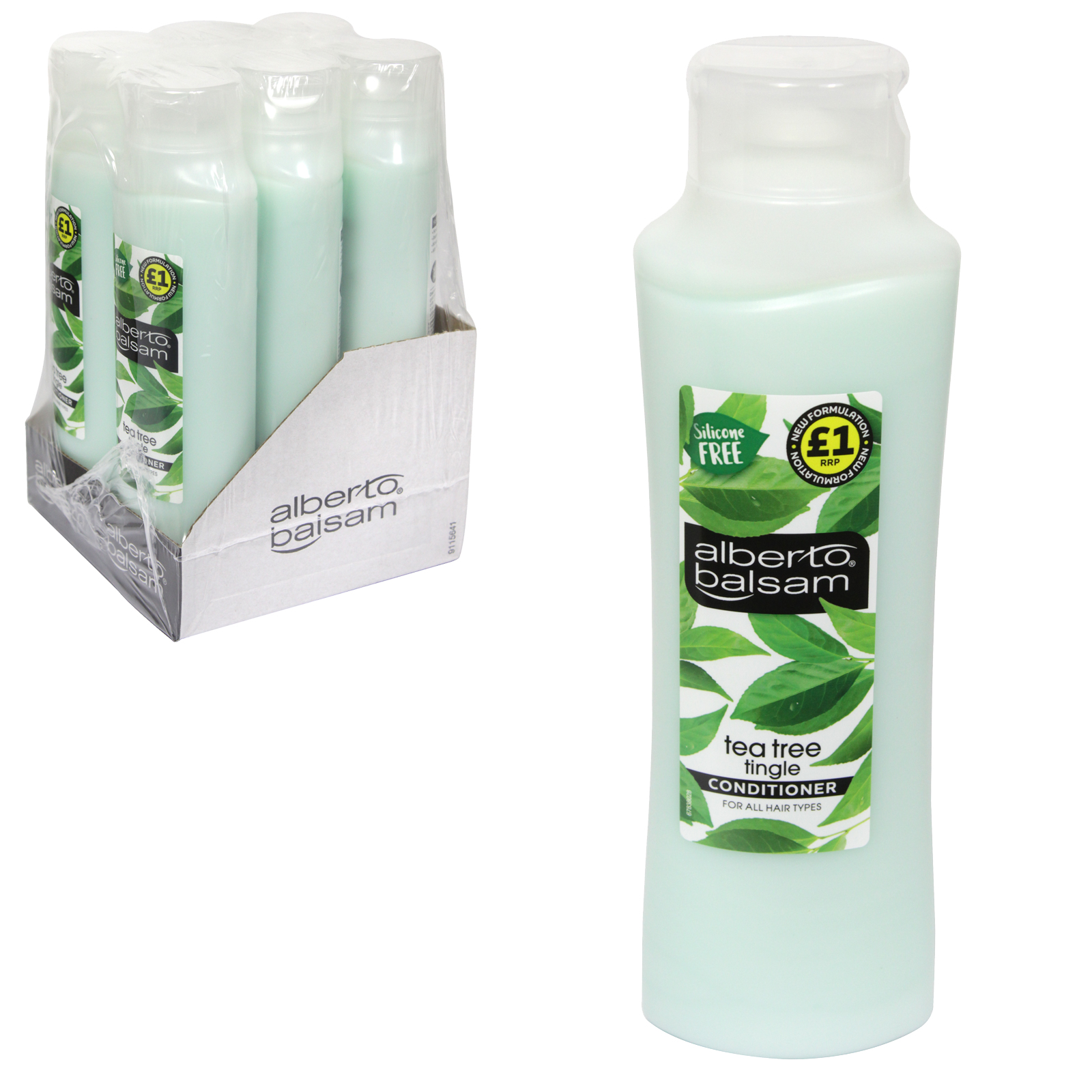 ALBERTO BALSAM CONDITIONER 350ML TEA TREE TINGLE X6