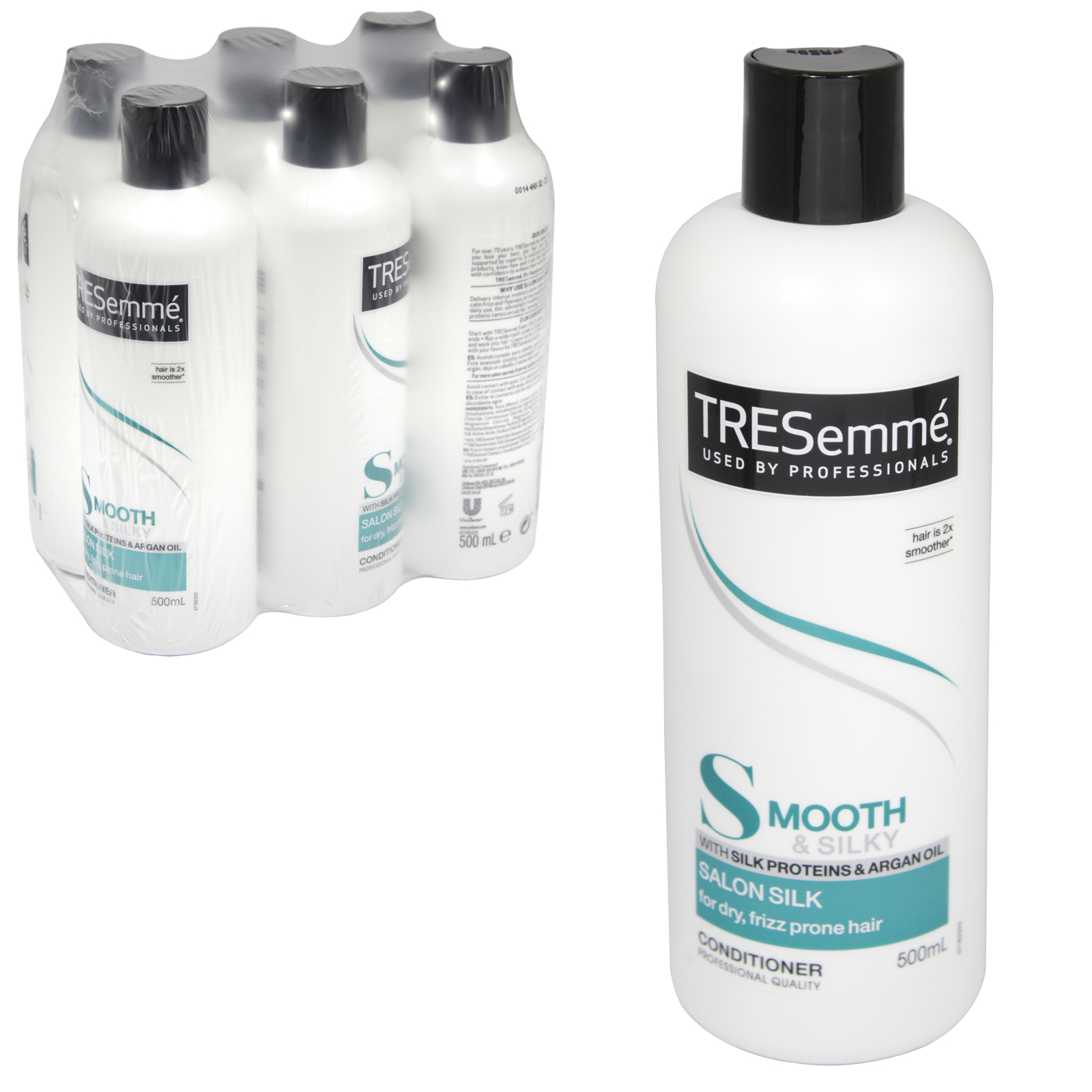 TRESEMME CONDITIONER 500M SALON SILKFOR DRY,FIZZ PRONE HAIR X6