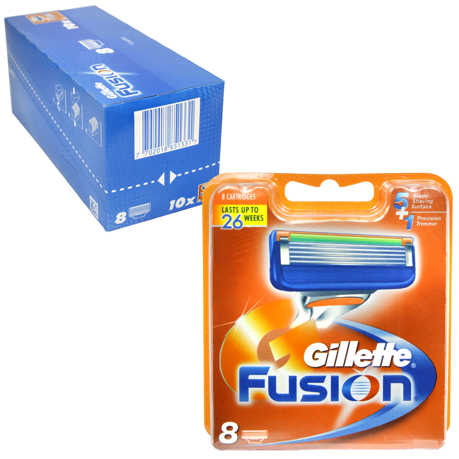 GILLETTE FUSION CARTRIDGES 8'S
