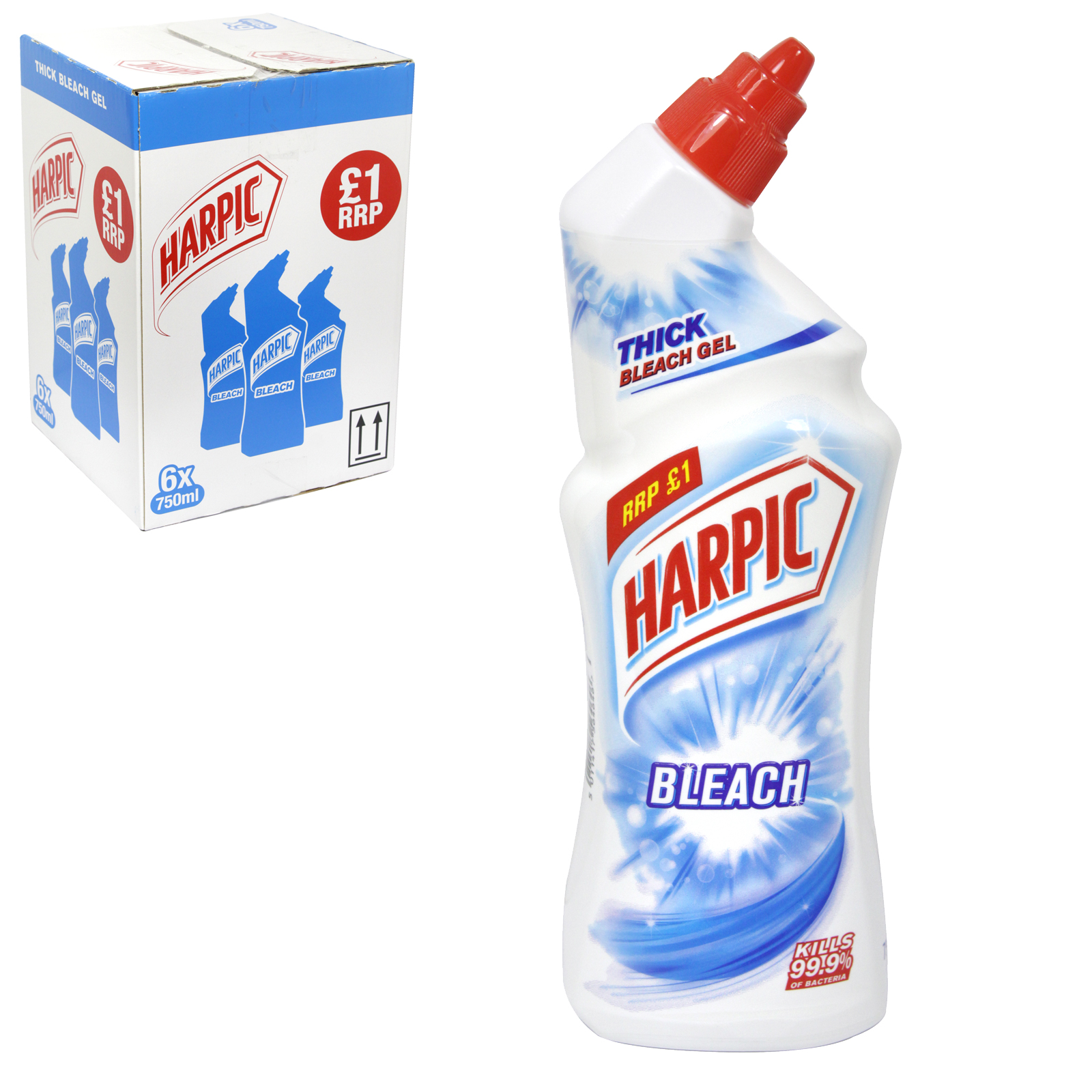 HARPIC BLEACH 750ML THICK GEL PM£1 X6