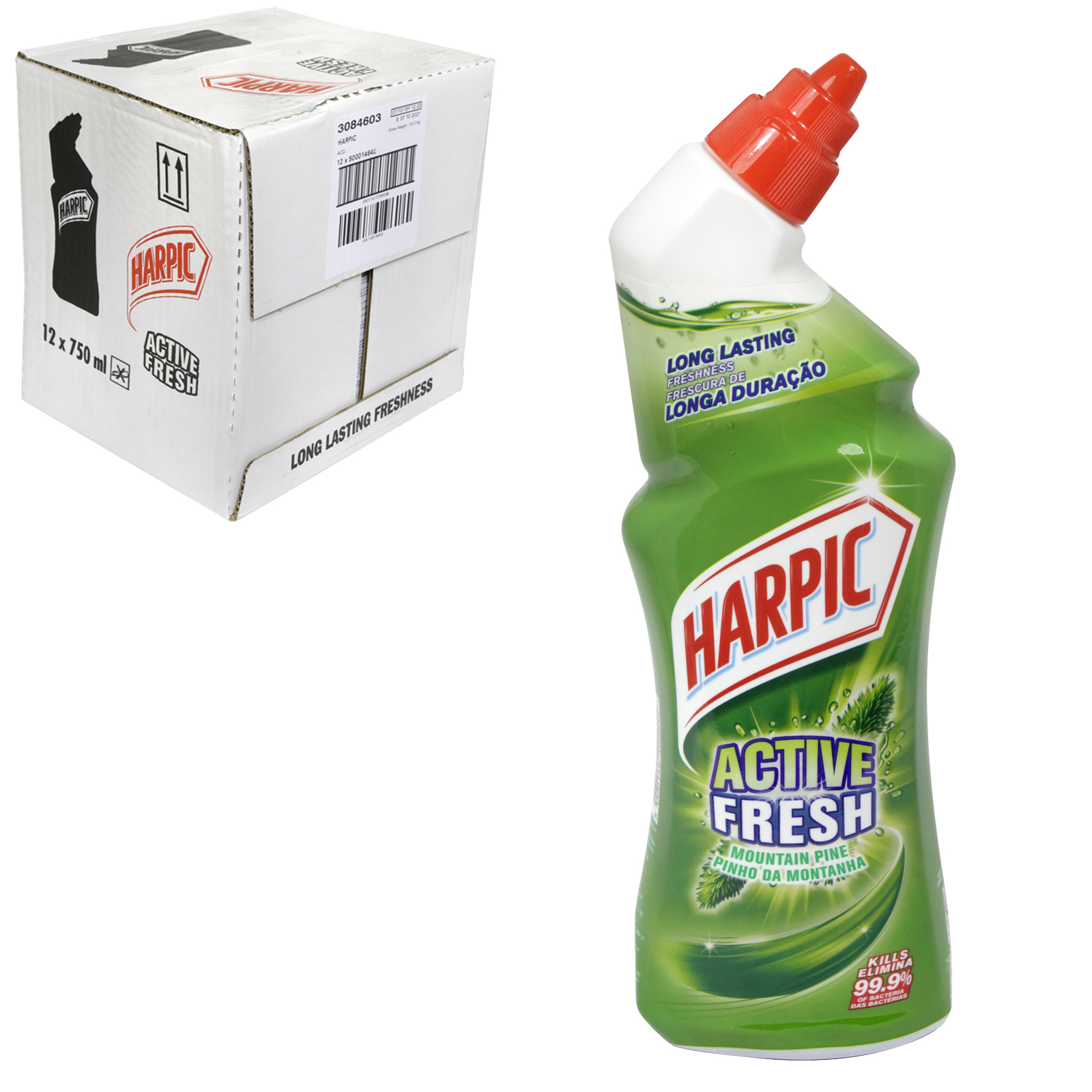 HARPIC ACTIVE FRESH 750ML MOUNTAIN PINE X12
