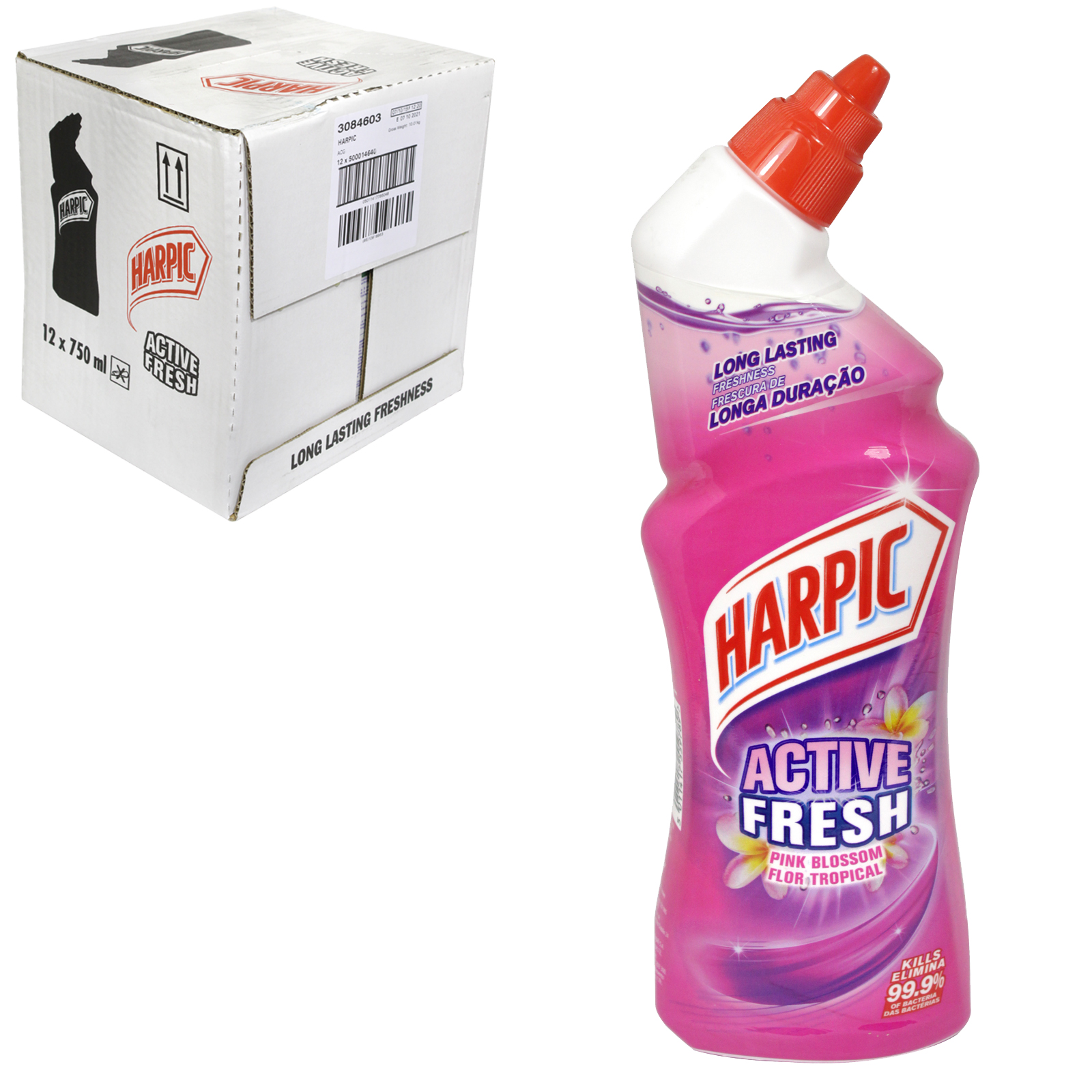 HARPIC ACTIVE FRESH 750ML PINK BLOSSOM X12