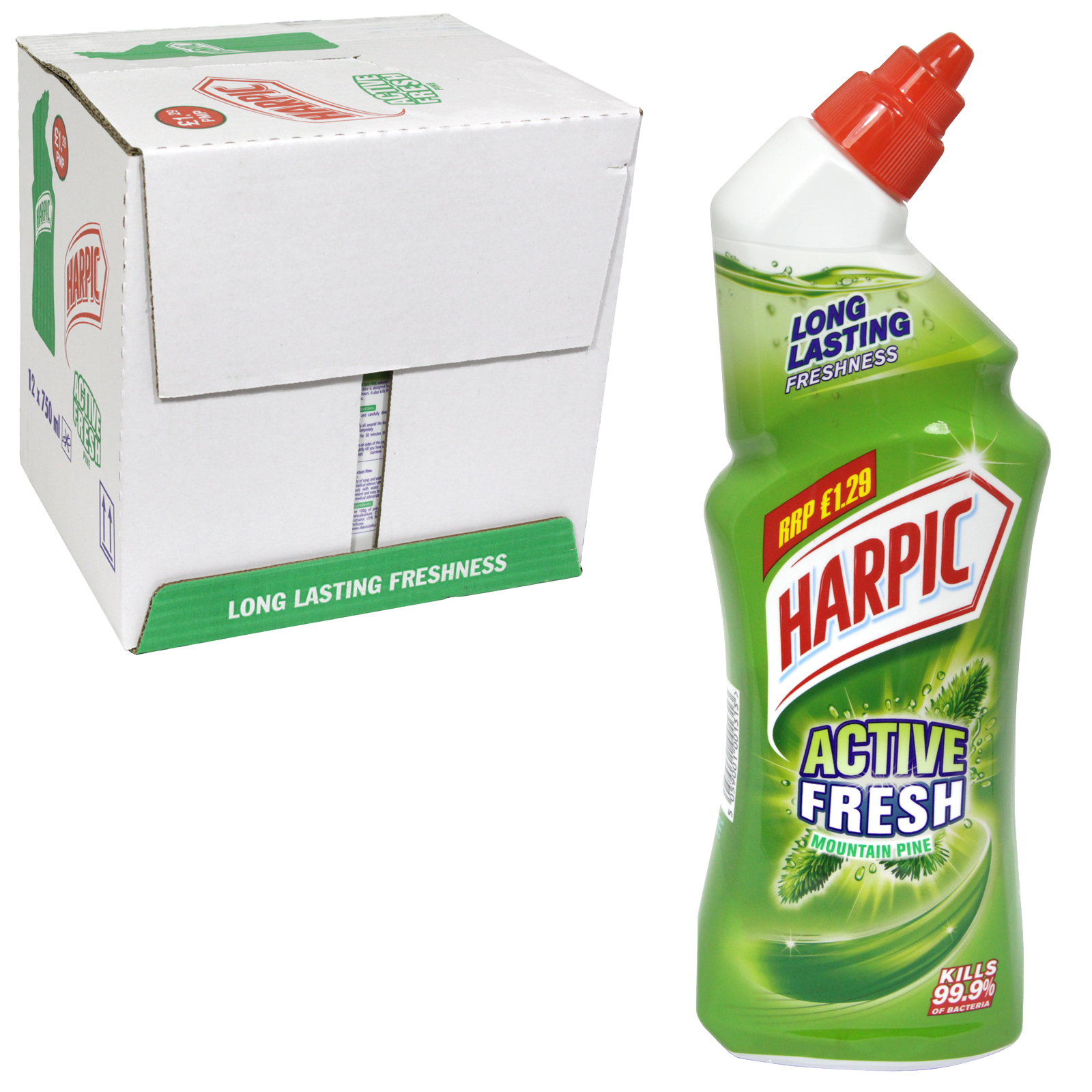 HARPIC ACTIVE FRESH 750ML MOUNTAIN PINE PM £1.29 X12
