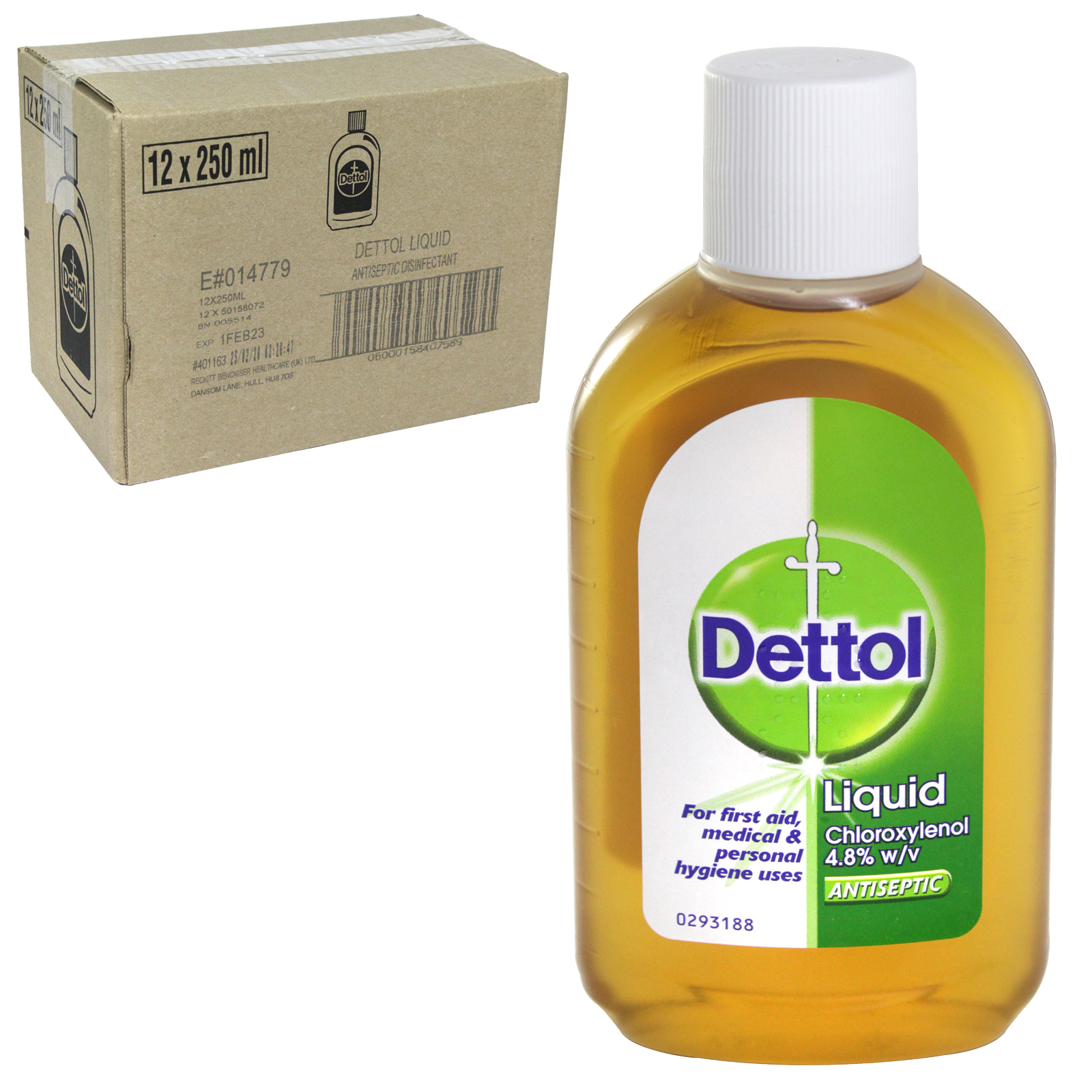 DETTOL ANTISEPTIC 250ML ORIGINAL X12