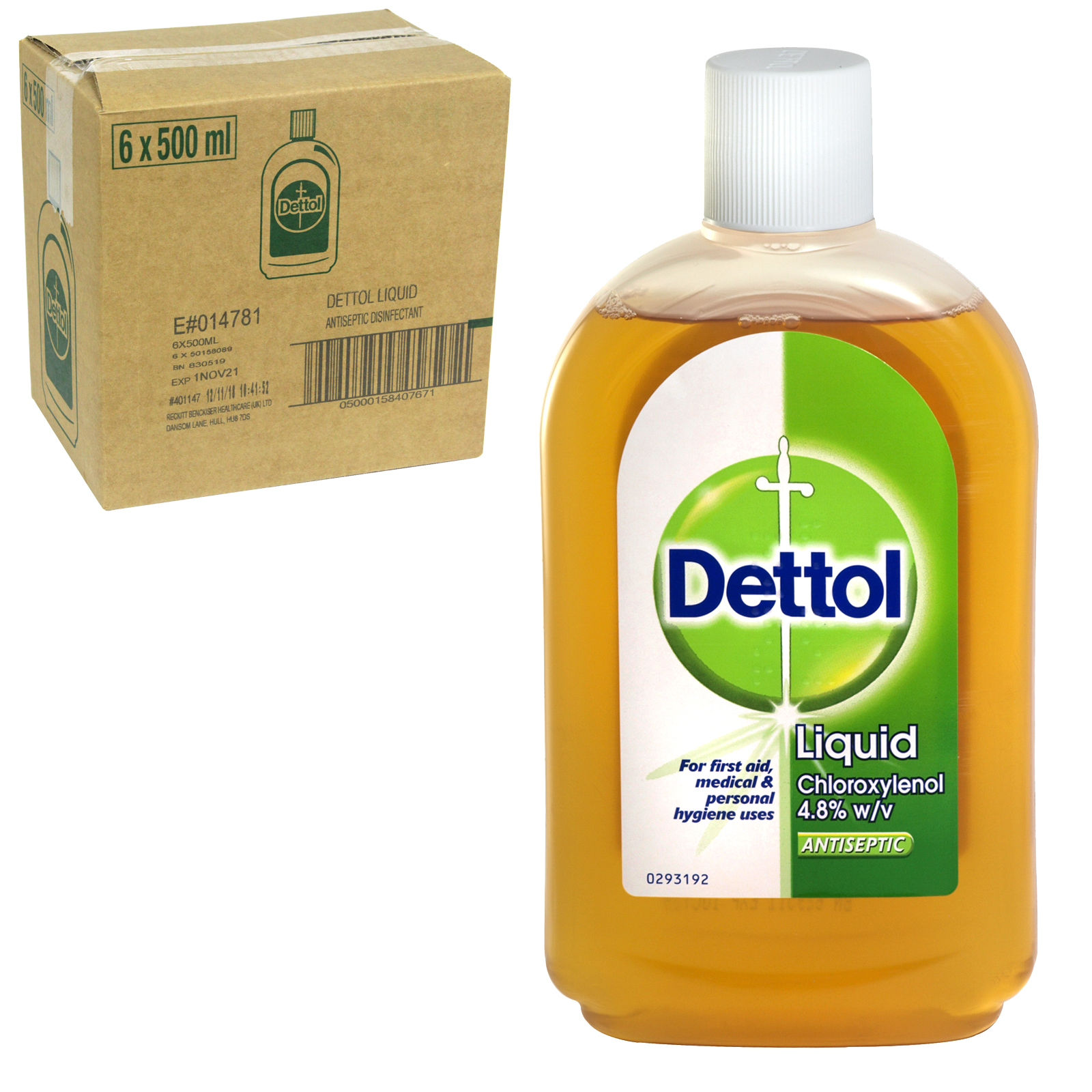 DETTOL ANTISEPTIC 500ML ORIGINAL X6 (NON RETURNABLE)