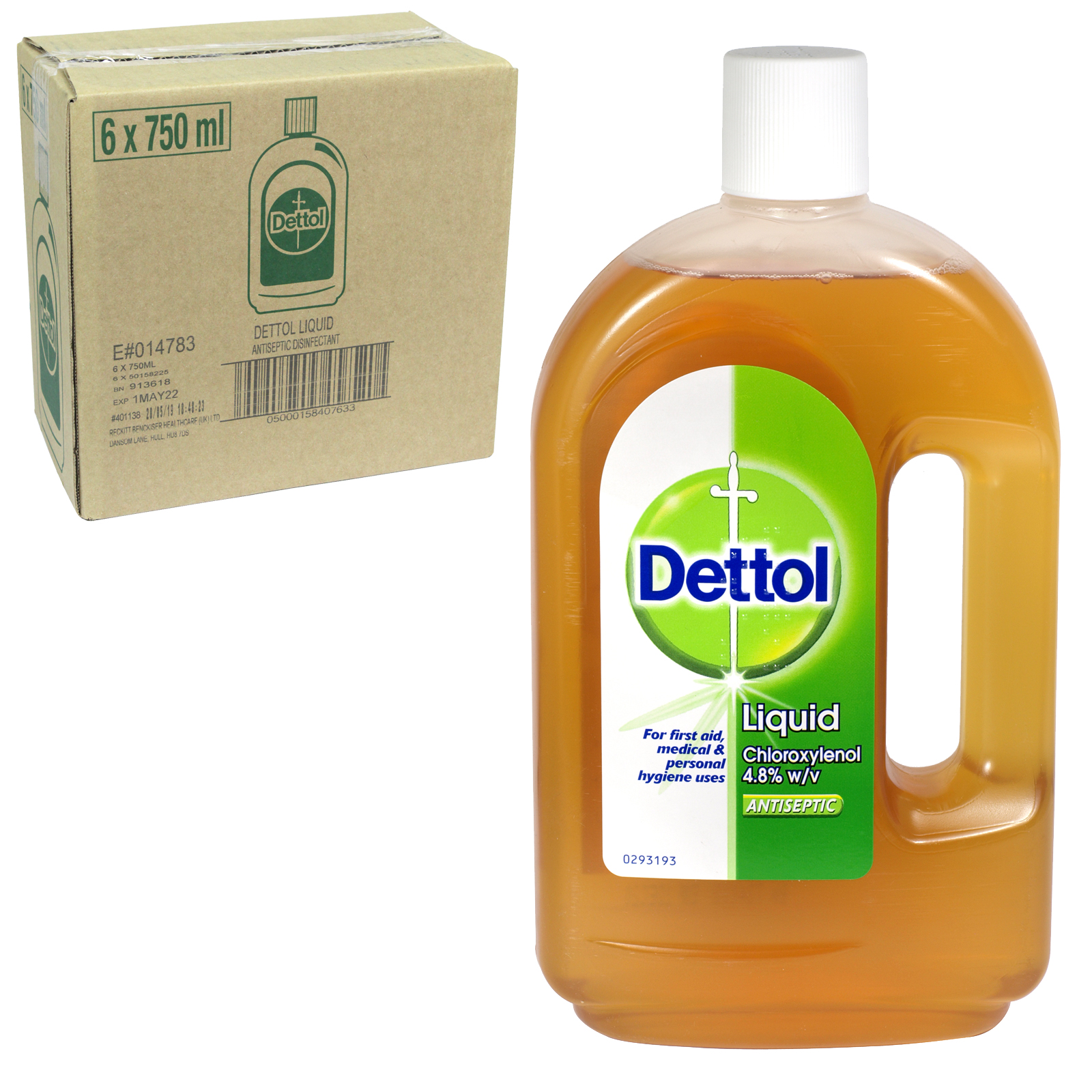 DETTOL ANTISEPTIC 750ML ORIGINAL X6 (NON RETURNABLE)