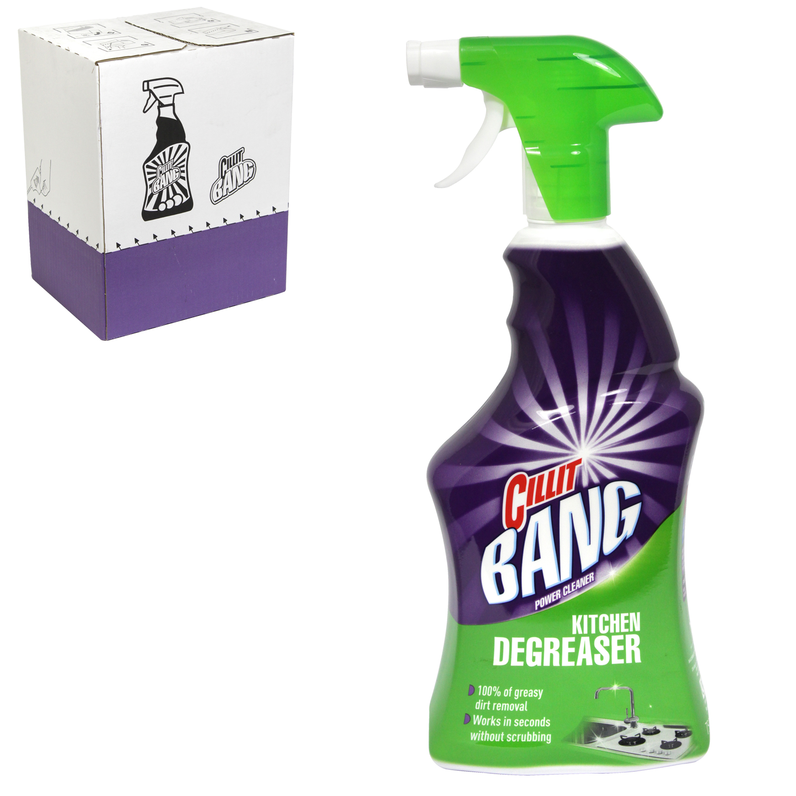 CILLIT BANG 750ML GREASE+SPARKLE X6