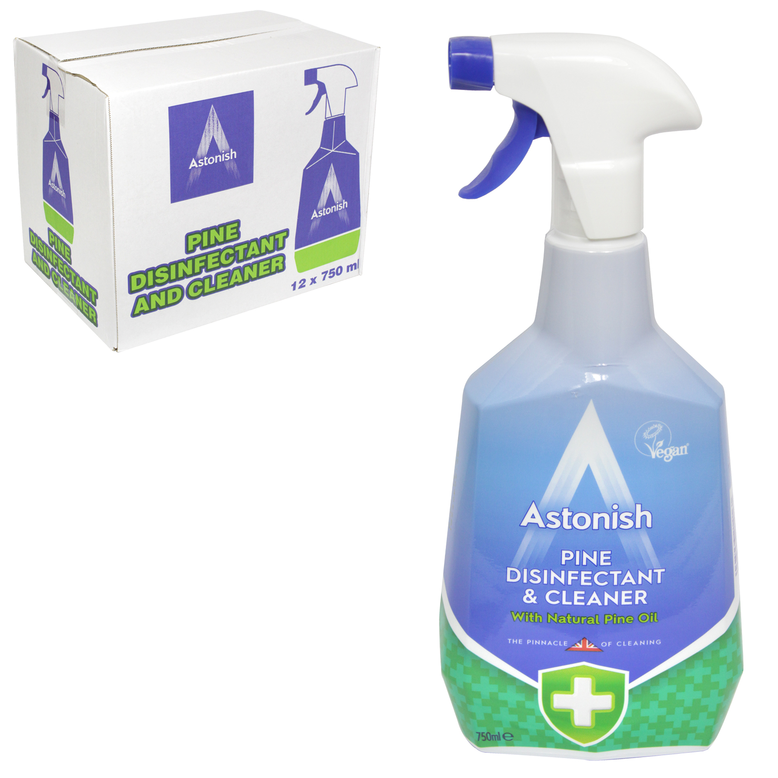 ASTONISH 750ML GERM CLEAR DISINFECTANT X12