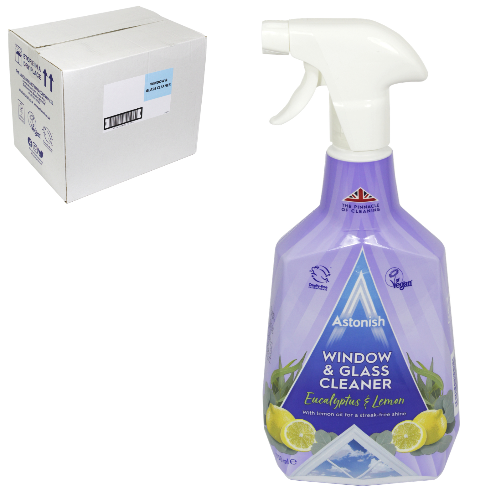 ASTONISH 750ML WINDOW+GLASS X12