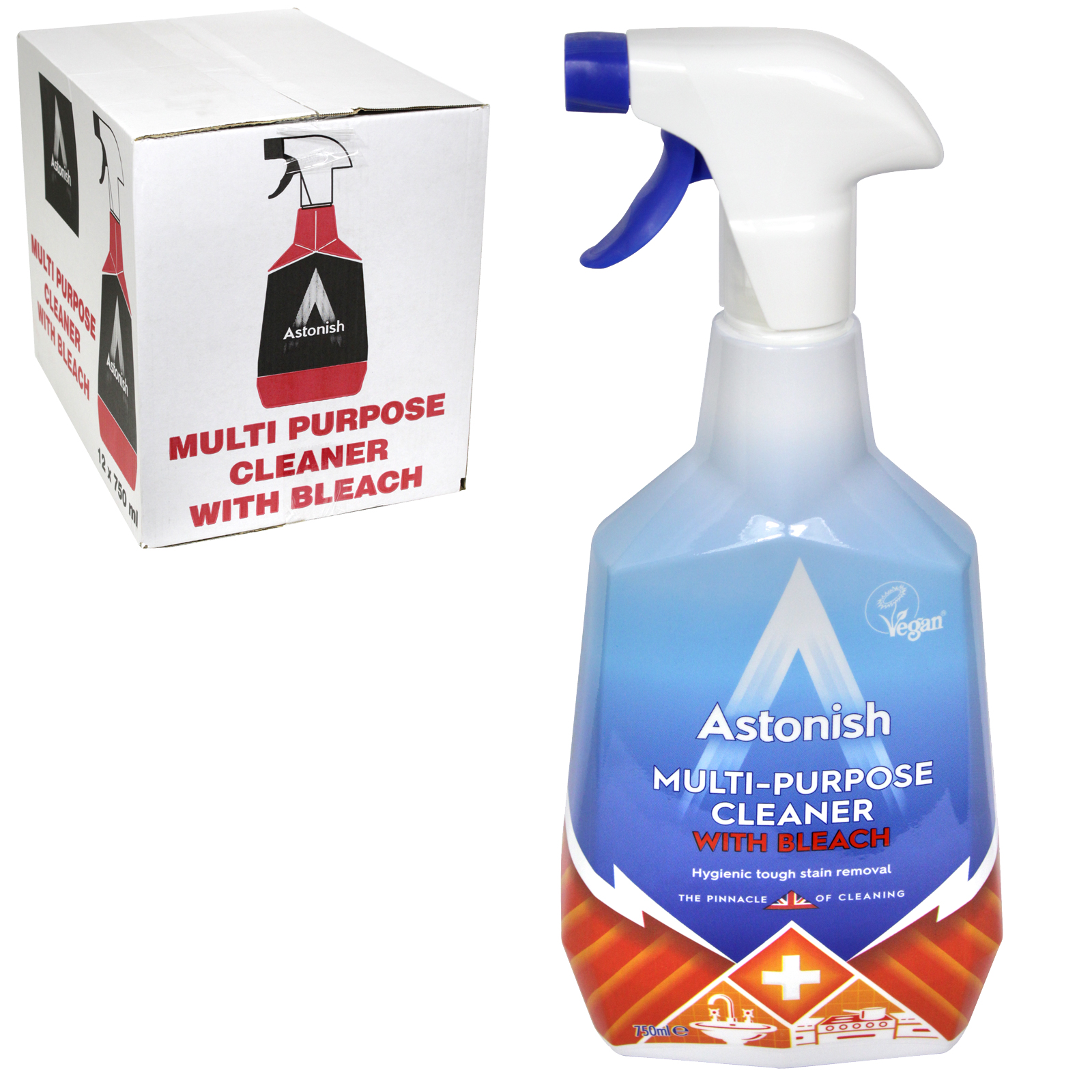 ASTONISH 750ML MULTI-PURPOSE CLEANER WITH BLEACH X12