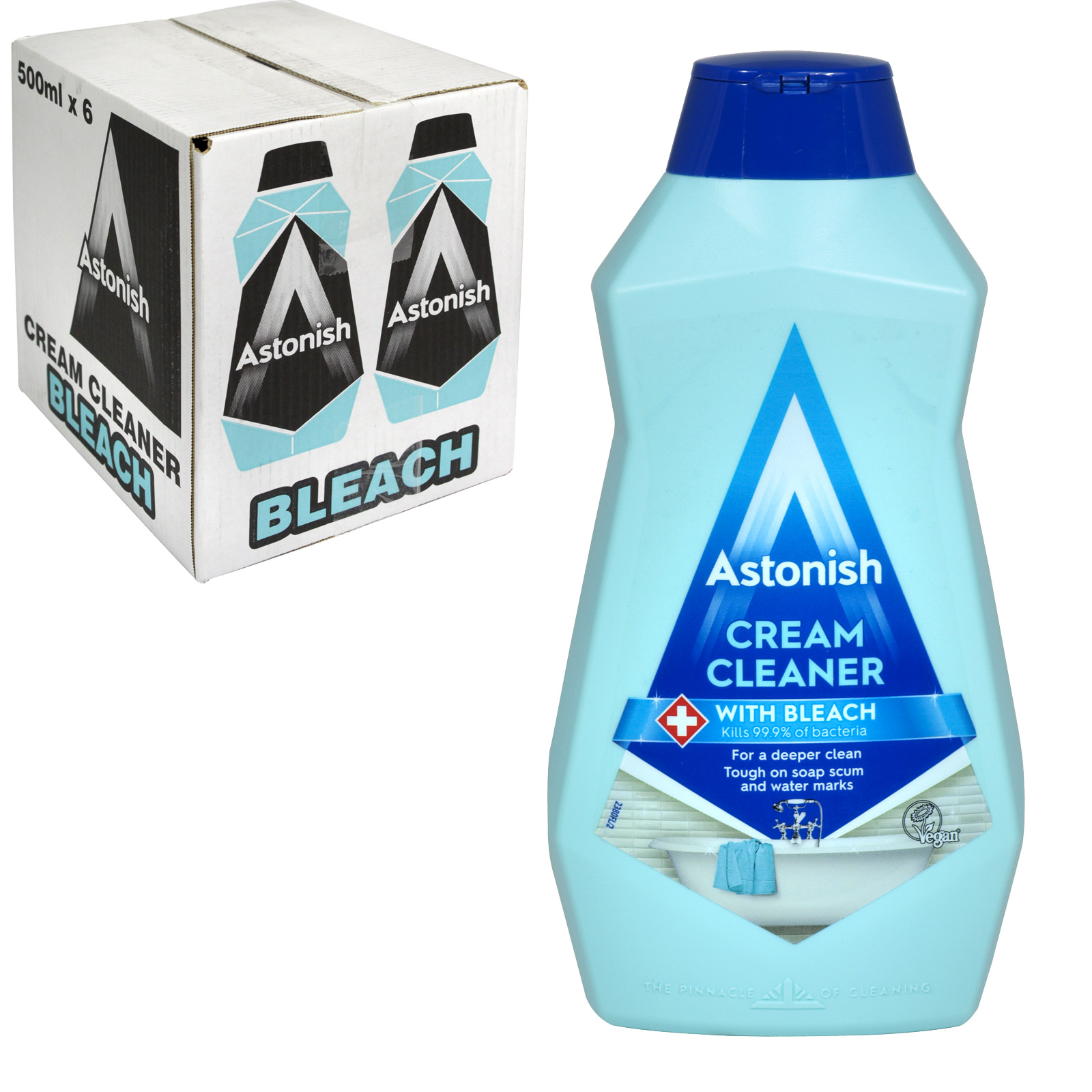ASTONISH 500ML CREAM CLEANER+BLEACH X6