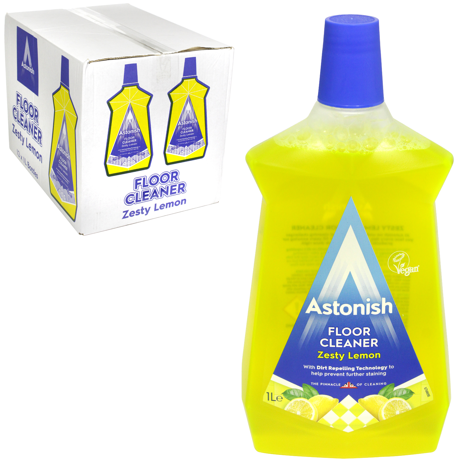 ASTONISH 1L FLOOR CLEANER ZESTY LEMON X12