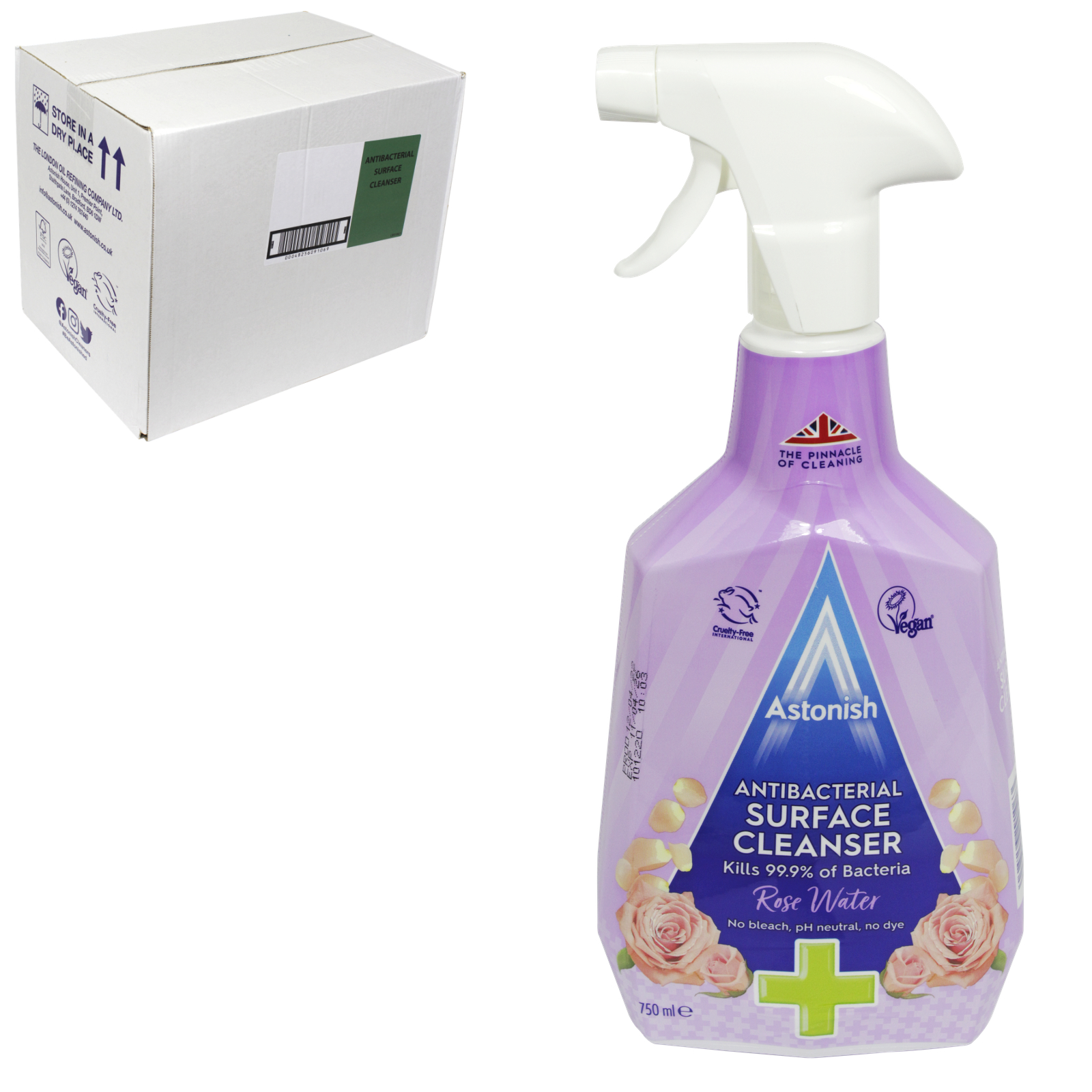ASTONISH 750ML ANTI-BACTERIAL SURFACE CLEANSER X12