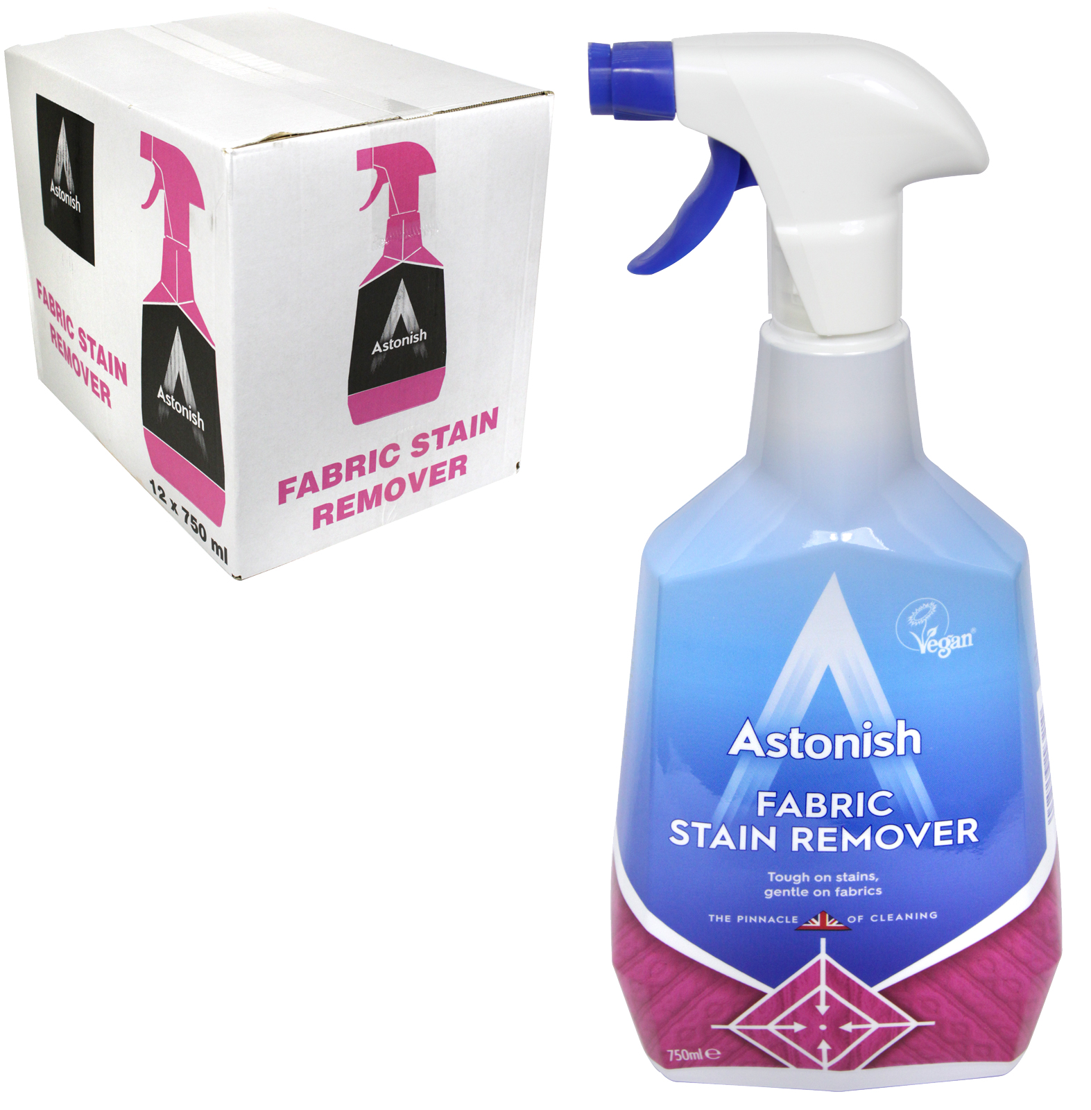 ASTONISH 750ML FABRIC STAIN REMOVER X12