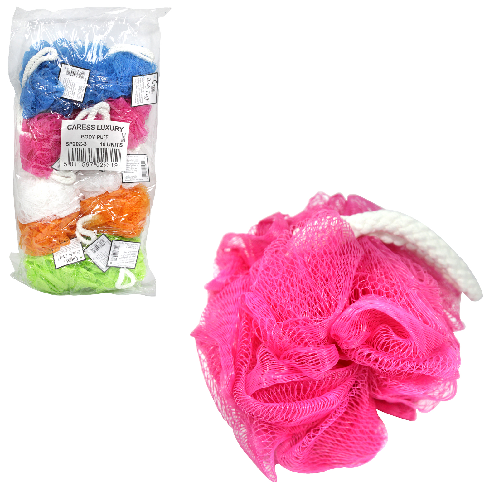 CARESS BODY PUFF SHOWER FLOWER X10